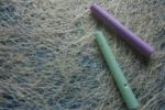 Two sticks of chalk