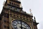 Big Ben clock face, London. Queen Elizabeth II millennium tower.